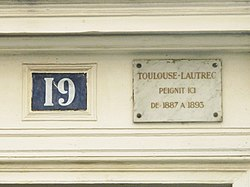 Photo of White plaque number 30705