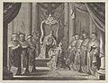 "Plate 8- Emperor Maximilian II granting a crown to the coat of arms of Amsterdam, from Caspar Barlaeus, ""Medicea Hospes"" MET DP855429.jpg"