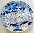 Plate with map of Japan, Japan, Arita region, Saga, 1800-1868, porcelain with cobalt decoration - Asian Art Museum of San Francisco - DSC01492.JPG