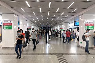 Yingkoudao station metro station in Tianjin, China