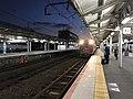 """Platform of Shimonoseki Station and Rapid Train """"Marumaru no Hanashi"""".jpg"""
