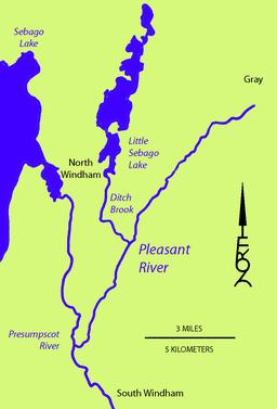 Pleasant River Presumpscot River Wikipedia - Map of maine rivers