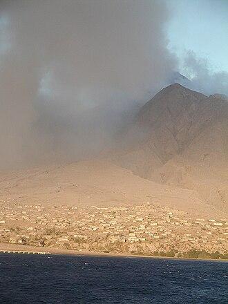 Montserrat - Plymouth City and volcano