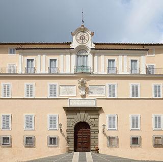 17th-century papal palace in the city of Castel Gandolfo, Italy