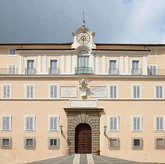 Papal Palace of Castel Gandolfo - The facade of the Apostolic Palace of Castel Gandolfo in 2015.