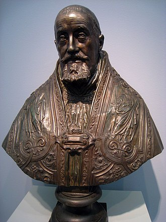 Bust of Pope Gregory XV - Bust of Pope Gregory XV (bronze), Carnegie Museum of Art, Pittsburgh, Pennsylvania, USA