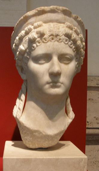 L'incoronazione di Poppea - Bust of Poppea,  at Palazzo Massimo alle Terme (National Roman Museum)