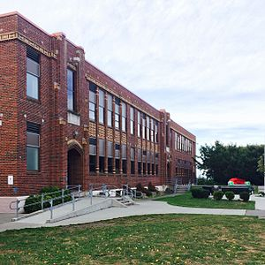 Port Townsend High School - Port Townsend HS, main building entry 2015
