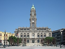 Porto City Hall in the Avenida dos Aliados