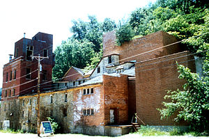 Potosi, Wisconsin - The Potosi Brewery, a landmark at the west end of the village, operated continuously from 1852 to 1972.