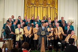 1972 Miami Dolphins season - President Obama honoring the 1972 team at the White House in 2013