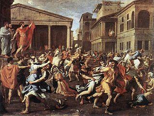 http://en.wikipedia.org/wiki/File:Poussin_RapeSabineLouvre.jpg#file