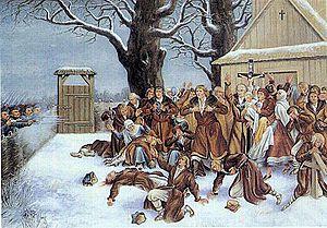Walery Eljasz Radzikowski - Image: Pratulin martyrs in 1874