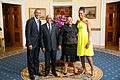 President Barack Obama and First Lady Michelle Obama Greet Mr. Jacob Zuma President of the Republic of South Africa, and Mrs. Nompumelelo Primrose Zuma.jpg