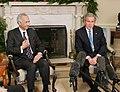 President George W. Bush and Iraqi Ambassador to the United Nations Samir Sumaidaie.jpg
