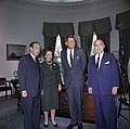 """President John F. Kennedy Meets with Planning Group for """"New York's Birthday Salute to the President"""" JFKWHP-KN-C20810.jpg"""