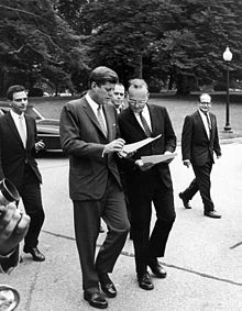 President Kennedy confers with McGeorge Bundy.jpg