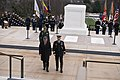 President of Colombia lays a wreath at the Tomb of the Unknown Soldier in Arlington National Cemetery (24818005355).jpg