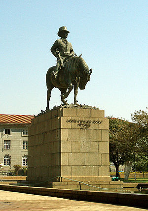Pretoria - Statue of Andries Wilhelmus Jacobus Pretorius (27 November 1798 – 23 July 1853), the namesake of Pretoria