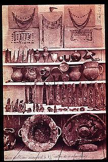 Artifacts found by classical archaeologist Heinrich Schliemann