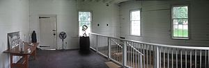 Joseph Priestley House - Panoramic view of the interior of Priestley's lab in June, 2009