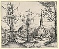 Print, Church by a Stream, Spanned by a Covered Bridge, 1545 (CH 18418387).jpg