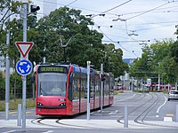 Probefahrt.Siemens Combino Tram nr 765 on a test journey (5984854333).jpg