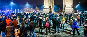Protest against corruption - Bucharest 2017 - Arcul de Triumf - 3.jpg