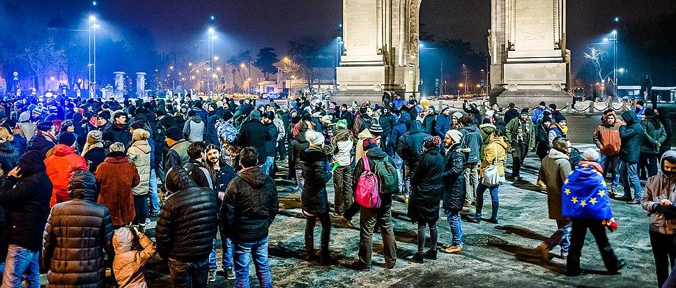 Protest against corruption - Bucharest 2017 - Arcul de Triumf - 3