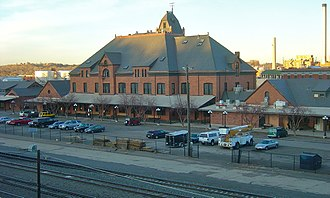 Union Avenue Historic Commercial District - Union Depot, a prominent building in the district