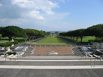 National Memorial Cemetery of the Pacific - The National Memorial Cemetery of the Pacific occupies much of Punchbowl Crater.