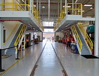 New Center, Detroit - Image: Q Line maintenance facility, May 2017