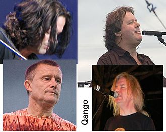 Qango (band) - Qango. Clockwise from top left: Dave Kilminster, John Wetton, John Young, and Carl Palmer.