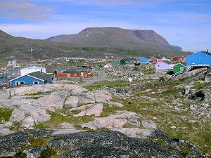 Village of Queqertarsuaq on Disko Island, Gree...