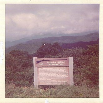 Qualla Boundary - Image: Qualla Indian Reservation (NC)