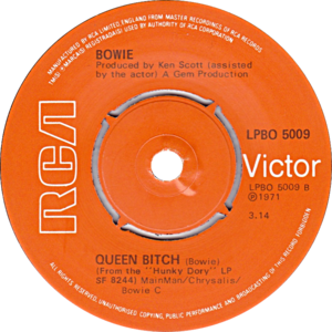 Queen Bitch - Image: Queen Bitch by David Bowie UK vinyl pressing