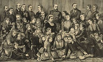 Grandchildren of Queen Victoria and Prince Albert of Saxe-Coburg and Gotha - Image: Queen Victoria & Royal Family