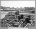 Queensland State Archives 3466 South main pier airlocks in place on eastern caisson Brisbane 16 April 1937.png