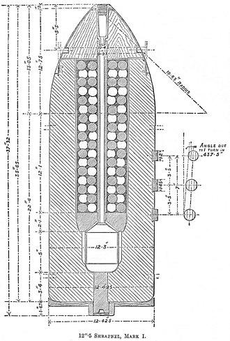 RML 12.5 inch 38 ton gun - Image: RML 12.5 inch Mk I shrapnel shell diagram