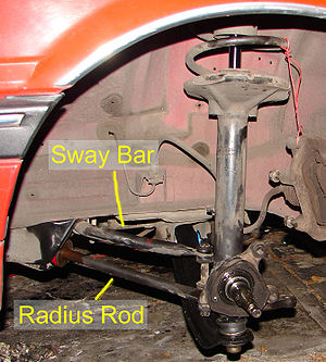Radius rod - 280ZX front suspension