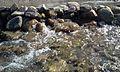 Rafsanjan rocks and water in 2015.jpg