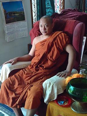 English: A Buddhist monk فارسی: یک راهب بودایی