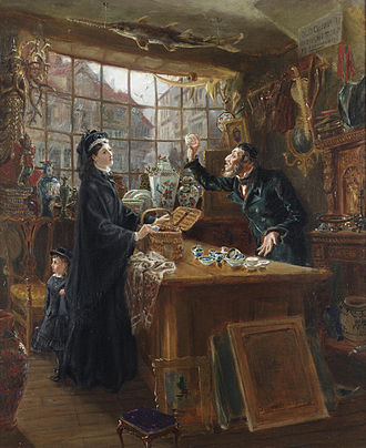 Ralph Hedley - Ralph Hedley, The Old China Shop (1877)