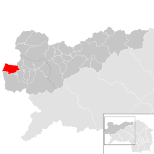Overview map of the communities in the entire Liezen district