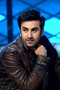 A picture of Ranbir Kapoor looking away from the camera
