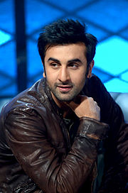 Ranbir Kapoor is looking away from the camera