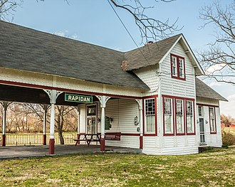 Rapidan, Virginia - Image: Rapidan Passenger Depot 3877