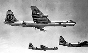 91st Operations Group - Flight of three Convair RB-36D Peacemakers used to fly high altitude reconnaissance over Manchuria
