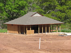 Mayo River State Park - Park facilities under construction, April 2009.