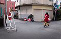 Red and white No entry signs in Jūsō 2013.jpg